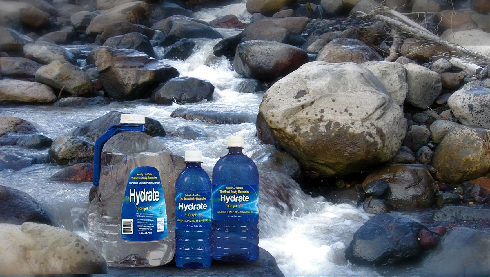 Drink Hydrate! Alkaline Ionized Spring Water